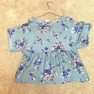 """The Outfit"" Large Cold Shoulder Top!"
